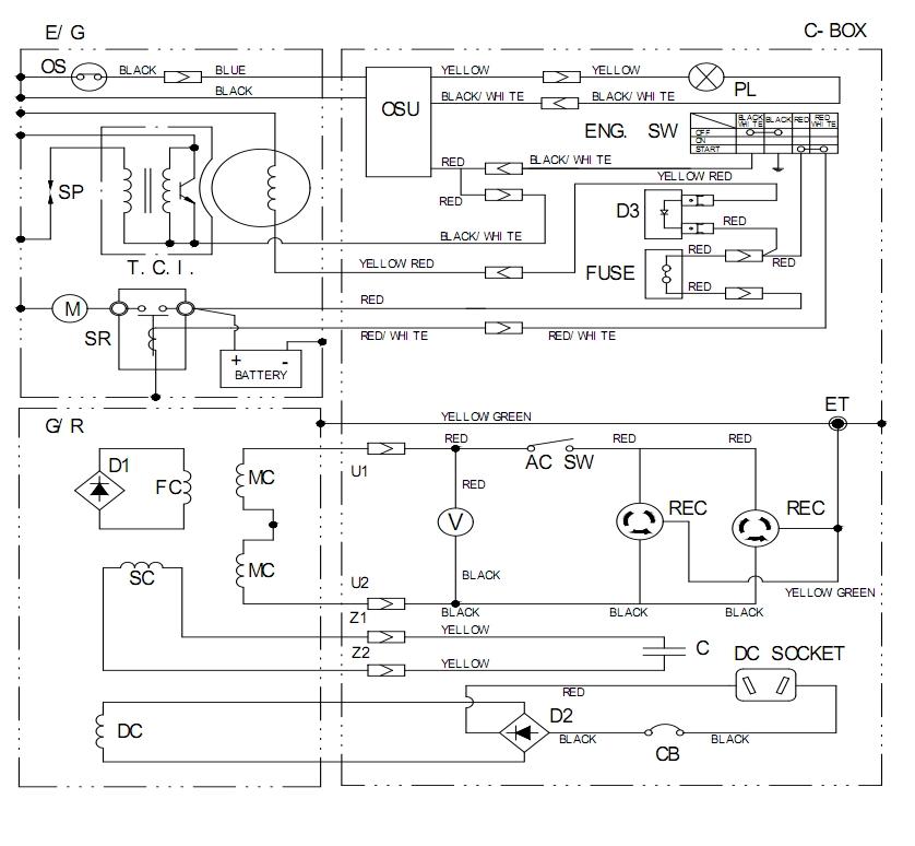Схема электрическая генератора