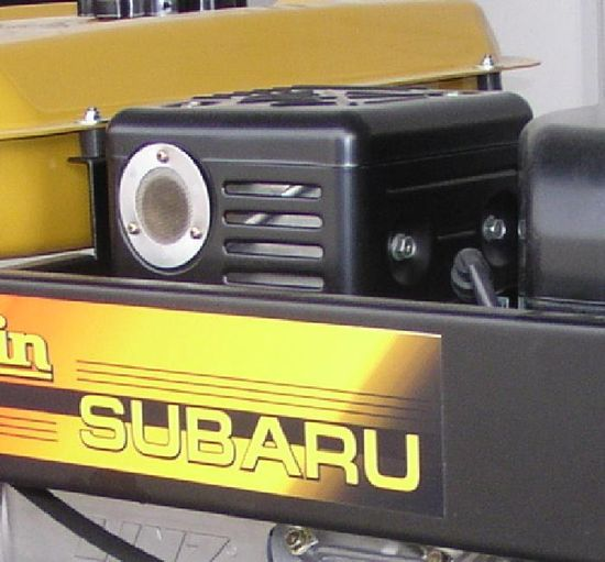 пример установки переходного универсального адаптера выхлопной системы генератора до установки